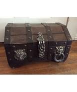 Vintage Treasure Chest Wooden Lock Pirates Lion... - $199.99