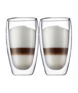 New Bodum Pavina Double Wall Glass, 14-Ounce/350ml/Set of 2  - £17.24 GBP