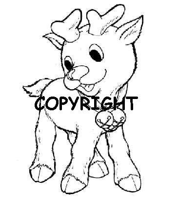 CIJS BABY REINDEER NEW mounted rubber stamp
