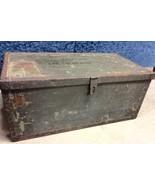 VTGl Military Army Green Foot Locker Trunk Ches... - $125.00