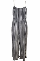 New Womens Ladies Pleated Strappy Tie Back Culotte Jumpsuit Stripe Size ... - $32.71