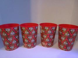 Set of 4 Poop EMOJI Reusable Plastic Cups 16 oz. Party, Kids, Fun ~Free ... - $9.74
