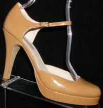 Steve Madden Anne brown patent leather round toe mary jane platform heel... - $30.53