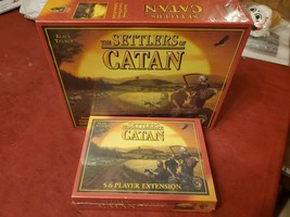 The Settlers of Catan Game 3601 & 5 To 6 Player Extension Pack 3602 Fact... - $66.29