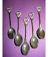 Five Vintage Stainless Steel Enameled Art Nouve... - $80.00