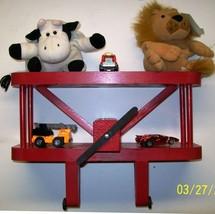 AIRPLANE DISPLAY SHELF / RED 12 INCH Aviation / GIFT / Kids Wall Shelf /... - $40.00