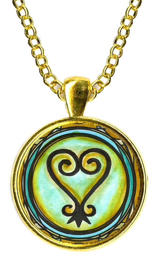 Adinkra SANKOFA To Learn From The Past Gold Pendant