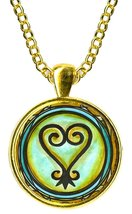 Adinkra SANKOFA To Learn From The Past Gold Pendant - $14.95