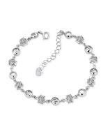 Fashion Women Sterling Silver Zircon Star Bracelet - $29.99