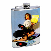Flask 8oz Stainless Steel Classic Vintage Model Pin Up Girl Design-156 W... - €11,22 EUR