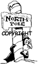 NORTHPOLE PENGUIN new mounted rubber stamp - $6.00