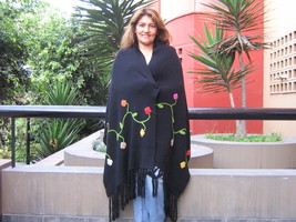 XL Shawl, soft alpaca wool wrap,outerwear - $136.00