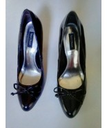 WHITE HOUSE BLACK MARKET Classy Bow Patent Leather Heel Pump Size 9M - $32.52