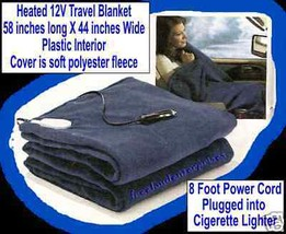 Travel Blanket Heated 12V  ~ Use 4 RVing & Camping NEW - $45.49