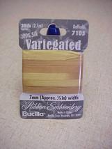 10 packs Daffodils Variegated Pure Silk Ribbon 7mm - $9.50