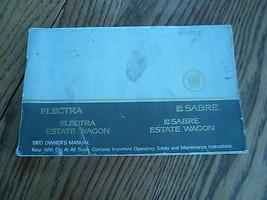 1980 Buick Owner's Manual Electra Le Sabre Estate Wagon - Vintage - Glove Box - $7.84