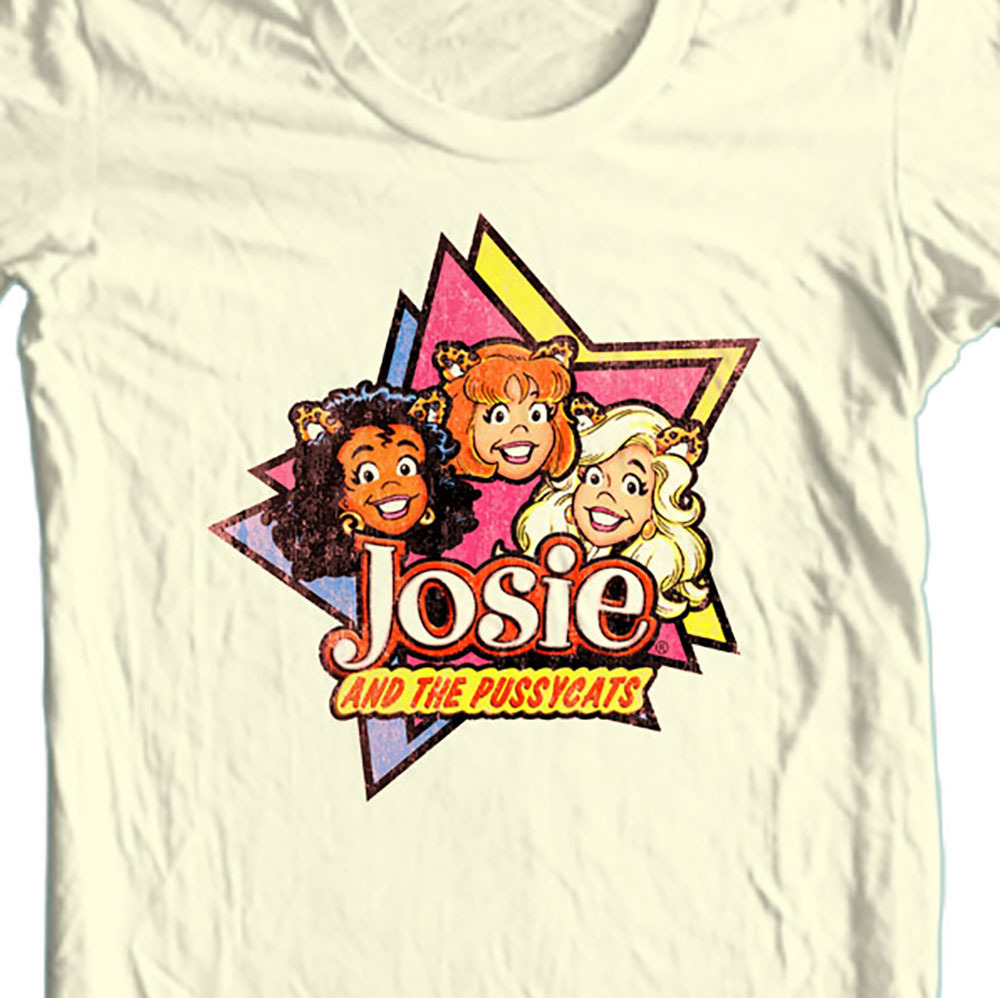 Josie and pussy cats retro cartoons natural t shirt