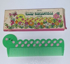 Vintage AVON Curly Caterpillar Hair Comb Green Pink Original Box - $19.35