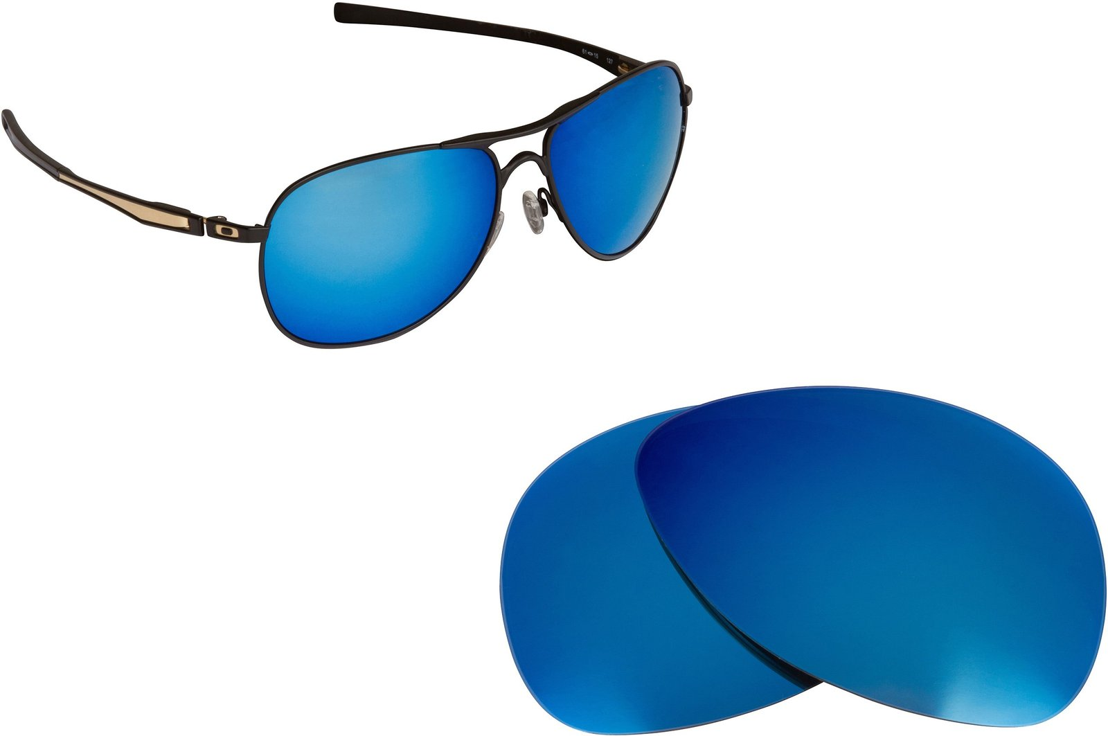 New SEEK Replacement Lenses Oakley PLAINTIFF - Polarized Black Blue