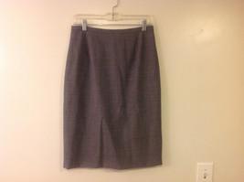 Ann Taylor Women's Size 10 Skirt Black White Gray Wool Stretch Tweed Below Knee