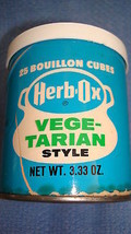 Collectible Herb-Ox Vegetable Bouillon Cubes 25 Ct per 3.33-Oz Container... - $12.82