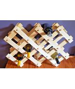 Wine Rack Wood Folding Collapsible Holder Accordion Vintage Holds 8 - 10... - $42.52