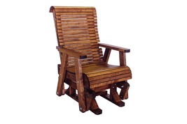 Outdoor Patio Highback Glider Chair - Real Wood - High Quality - Made In... - $688.05