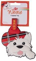 Scottish gifts - Westie luggage tag - uk gift - €5,70 EUR