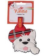 Scottish gifts - Westie luggage tag - uk gift - €5,71 EUR