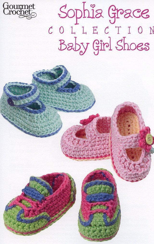 Primary image for Sophia Grace Collection Baby Girl Shoes 0-12 mo. Gourmet Crochet Pattern NEW