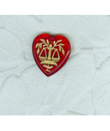Vintage Red Glass Heart Zodiac Pendant Bead Charm  Libra the Scalesl - $7.99