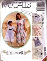 1993 Girls' DRESS, PANTALOONS & HATBAND Pattern 6394-m Size 12 - UNCUT - $9.99