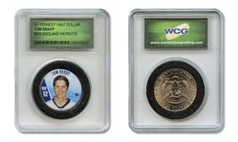 TOM BRADY Patriots Colorized JFK Kennedy Half Dollar U.S. Coin in Slabbe... - $9.95