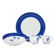 Mikasa 5 Piece Serving Set True Blue SLI 30-004 Platter Bowl Sugar Creamer  - $44.54