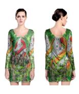 GhostBuster Women Sexy Long Sleeve Bodycon  Dress - $24.80+