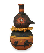Bethany Lowe Fall Thanksgiving Folk Art Harvest Crow Candy Bowl Decoration - $39.95
