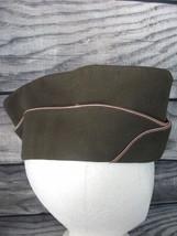 Vintage US Military Olive Drab Green OD Size 7 GI Garrison  Sidecap - $9.79