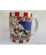 Dalmation Puppy Dog Kitty Cat Pals Coffee Mug Otagiri USA Advantage Coll... - $24.99