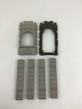 Playmobil 7175 Knight Castle Large Round Tower Replacement 6pc Lot Build... - $11.83