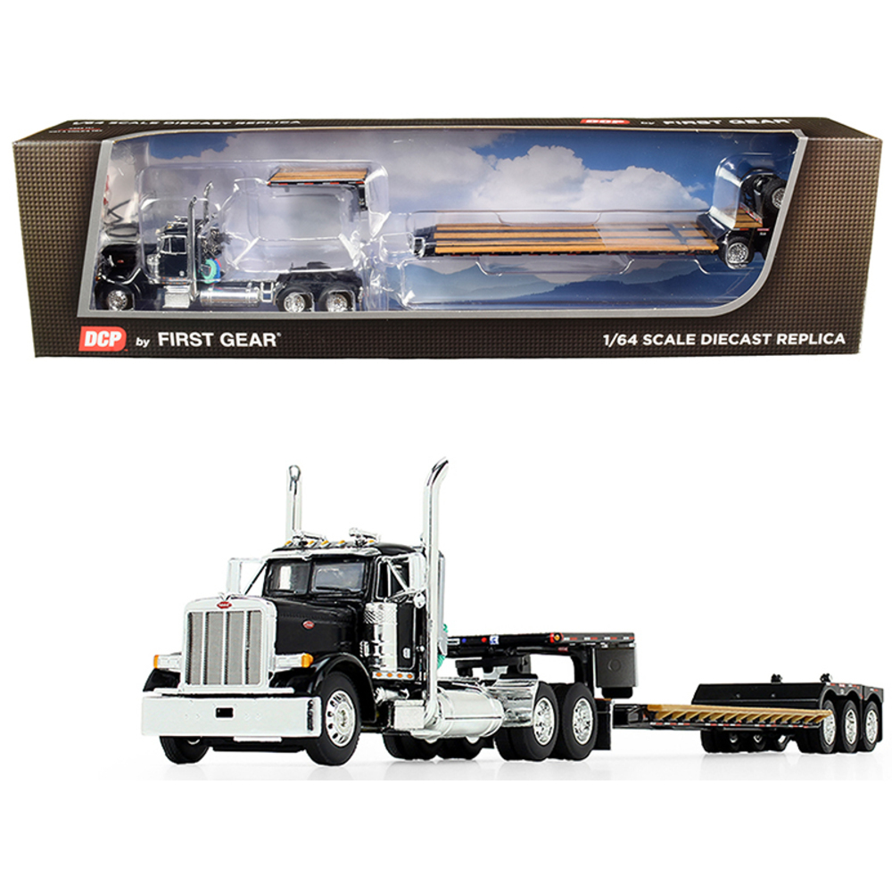 Primary image for Peterbilt 379 Day Cab Tractor Truck with Fontaine Renegade Extendable Lowboy Tra