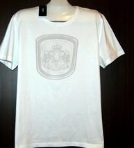 Hugo Boss Men's White Logo Print Cotton T-Shirt Shirt Size 3XL Slim Fit NEW - $98.00