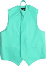 Men's Solid Color Adjustable Dress Vest & Neck Tie Set for Suit or Tuxedo image 10