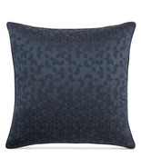 Hotel Collection Cubist Euro Pillow Sham, Woven Jacquard - Blue - NEW - $33.25