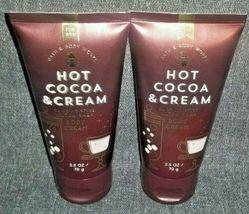NEW 2-Pack HOT COCOA & CREAM Travel Body Cream Bath & Body Works - $16.00