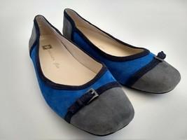 Anne Klein iflex Plural Womens Size 8.5M Blue Slip-On Ballet Flats Walki... - $43.93