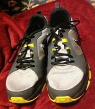 Nike Velocitrainer 554891-002 Mens 12.5 Gray Black Yellow Training Runni... - $23.64