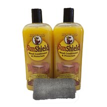 Howard Sun Shield Outside Wax for Wood, 2x 16 Ounce Bottles, Wood Wax wi... - $32.43