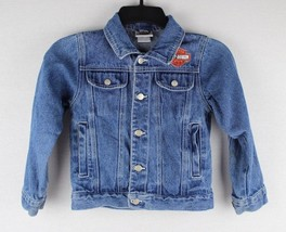 Harley Davidson toddler kids motorcycles denim jean jacket size 6-7 - $20.26