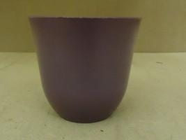 Designer Flower Pot 6 1/2in Diameter x 6in H Pink Modern Round Plastic - $11.65