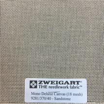 Zweigart Needlepoint Canvas Mono Deluxe 18 Count Sandstone Blank Canvas - $10.93+